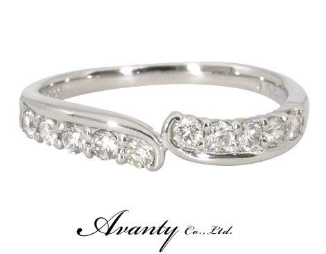 【Avanty】プラチナ900 エタニティリング ダイヤ10石 0.3ct_画像1