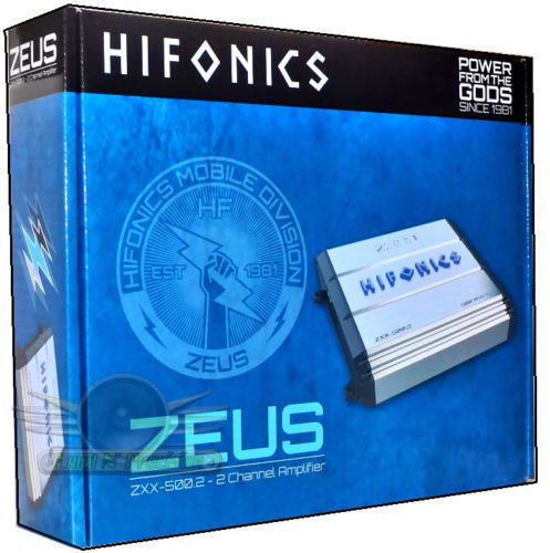 ■USA Audio■ハイフォニックスHIFONICS ZXX-500.2 ●ゼウス(Zeus)シリーズ 2chパワーアンプ ●保証付●税込_画像5