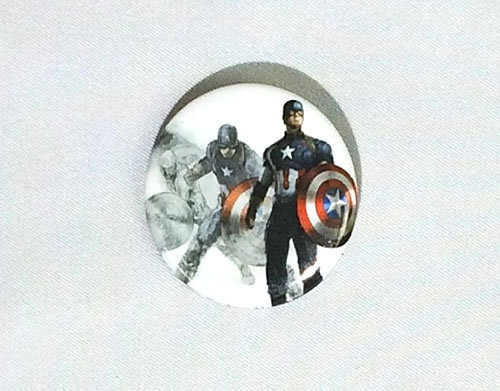 MARVEL(マーベル) アベンジャーズ キャプテン・アメリカ CAPTAIN AMERICA缶バッジ(ピンタイプ)☆_画像1