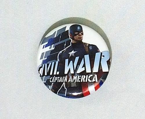 MARVEL(マーベル) アベンジャーズ キャプテン・アメリカ シビル・ウォー 缶バッジ(ピンタイプ)☆_画像1