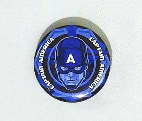 MARVEL(マーベル) アベンジャーズ キャプテン・アメリカ Captain America 缶バッジ(ピンタイプ)☆_画像1