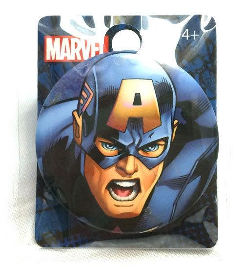 MARVEL (マーベル) アベンジャーズ キャプテンアメリカ CaptainAmerica 缶バッジ _画像1