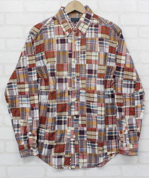 3T3023/ウエアハウス 長袖BDパッチワークシャツ WAREHOUSE_画像2