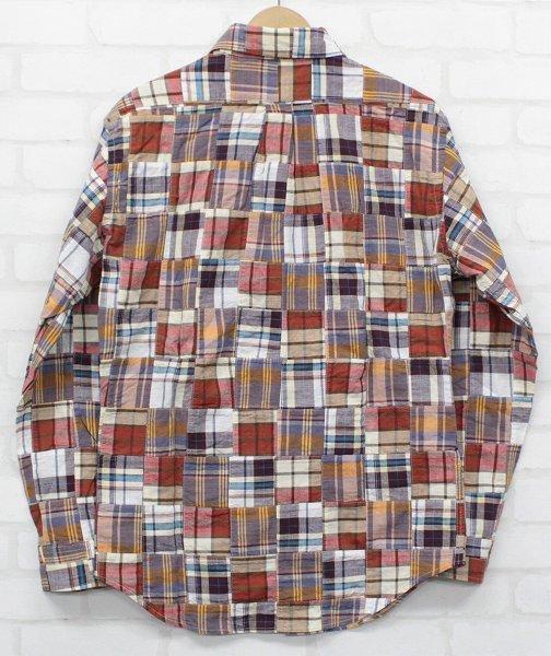 3T3023/ウエアハウス 長袖BDパッチワークシャツ WAREHOUSE_画像3