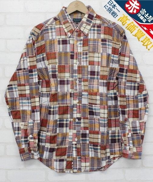 3T3023/ウエアハウス 長袖BDパッチワークシャツ WAREHOUSE_画像1