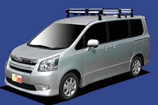 〓トヨタ ノア(車両型式 ZRR7#/年式H19.6-H26.1)全車用 ミドルサイズ キャリアHF431E《6本脚・アルミ素材》業販専用品_イメージ画像です