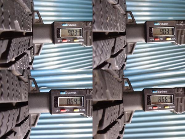 即決!ダンロップ DSX-2 185/70R14 4本 9.5分と9分溝_画像4