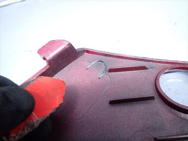 β0930 カワサキ ZZR250 ZZ-R250 EX250H (H8年式) 動画有★ 純正 リアカウル シートカウル 左 割れ有り!色褪せ有り!_画像6