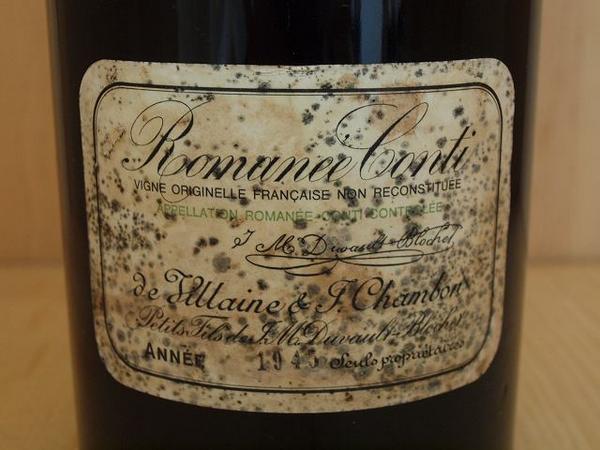 wineluvs#★世界一高いワイン、世界的な文化遺産のオーナーにぜひ★[1945]DRCロマネコンティ/Romanee Conti【3000ml】_画像1