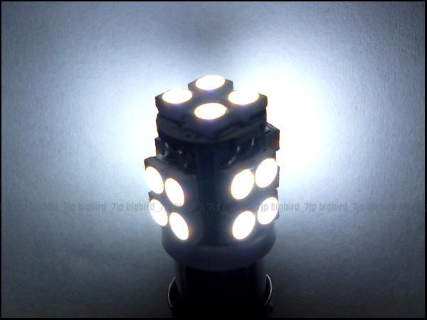 f◎★24V BA9s/LED ホワイト バルブ/20SMD/角マーカー/白 2個 (208) メール便_画像2