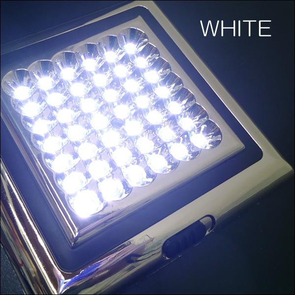 爆白 LED42球 12V車載用 カー シャンデリア ホワイト ドア連動式 後付 汎用 室内灯 ルームライト デコトラ 照明 ドレスアップ [D]/d21ч_画像6