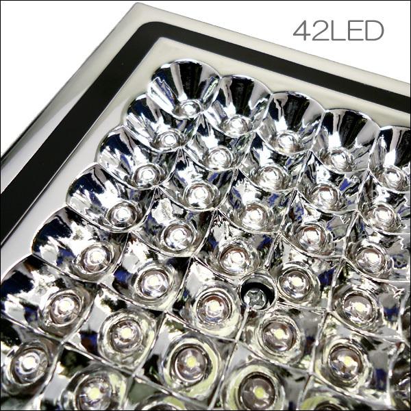 爆白 LED42球 12V車載用 カー シャンデリア ホワイト ドア連動式 後付 汎用 室内灯 ルームライト デコトラ 照明 ドレスアップ [D]/e21χ_画像5