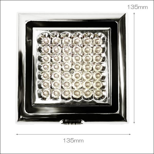 爆白 LED42球 12V車載用 カー シャンデリア ホワイト ドア連動式 後付 汎用 室内灯 ルームライト デコトラ 照明 ドレスアップ [D]/d21ч_画像3