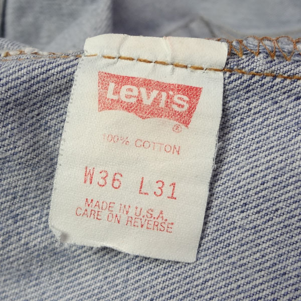 リーバイス ジーンズ 501xx 米国製 USA製 1993年製造 ユーズド デニムパンツ アメリカ製 古着 ジーパン Levi's サイズW36 裾上げ無料_画像3