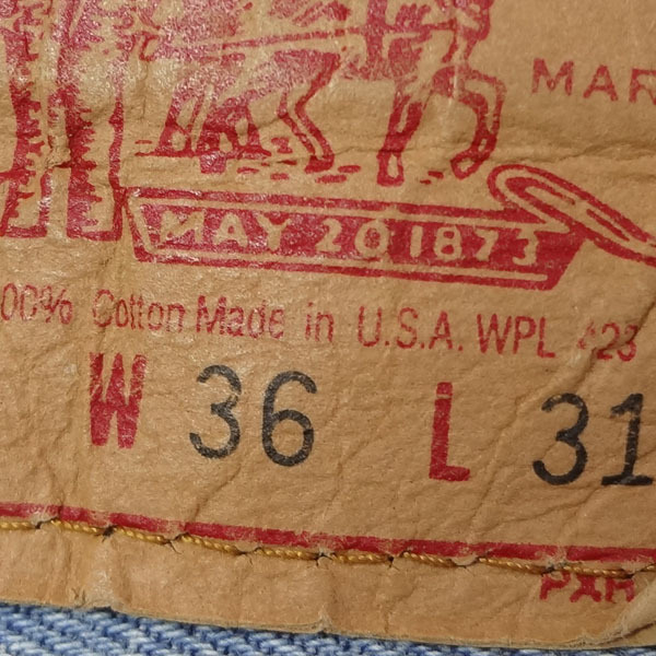 リーバイス ジーンズ 501xx 米国製 USA製 1993年製造 ユーズド デニムパンツ アメリカ製 古着 ジーパン Levi's サイズW36 裾上げ無料_画像5