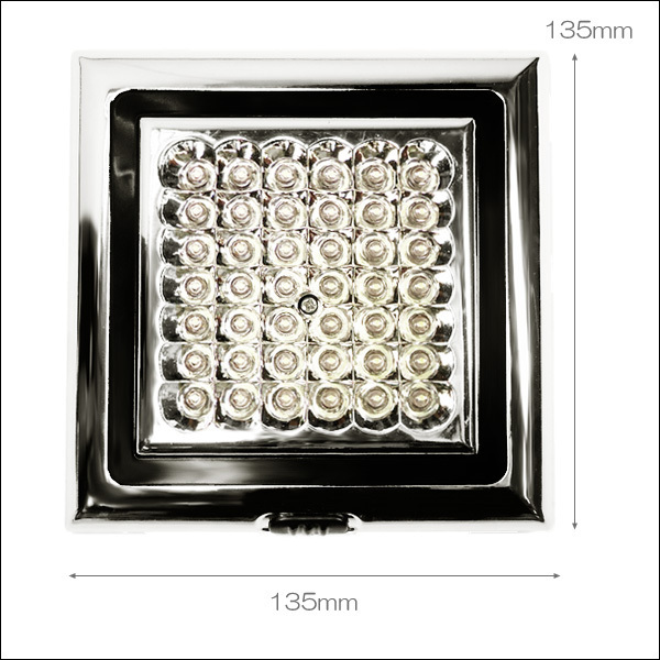 爆白 LED42球 12V車載用 カー シャンデリア ホワイト ドア連動式 後付 汎用 室内灯 ルームライト デコトラ 照明 ドレスアップ [D]/g21д_画像3