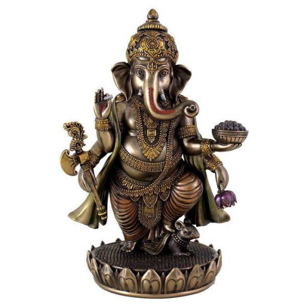 (夢をかなえるゾウ)ガネーシャ ヒンドゥー神象 障害を取り除き,繁栄を齎す、幸運神 ブロンズ風 彫像 彫刻/ Ganesh (Ganesha)(輸入品_画像1