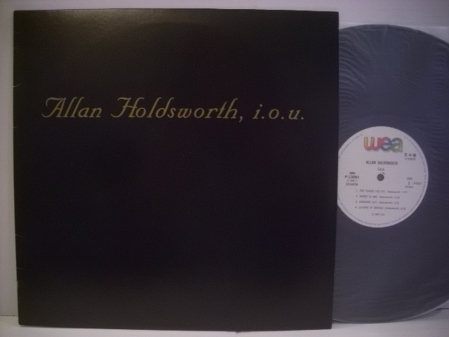 ●LP アラン・ホールズワース / I.O.U. ALLAN HOLDSWORTH_画像1