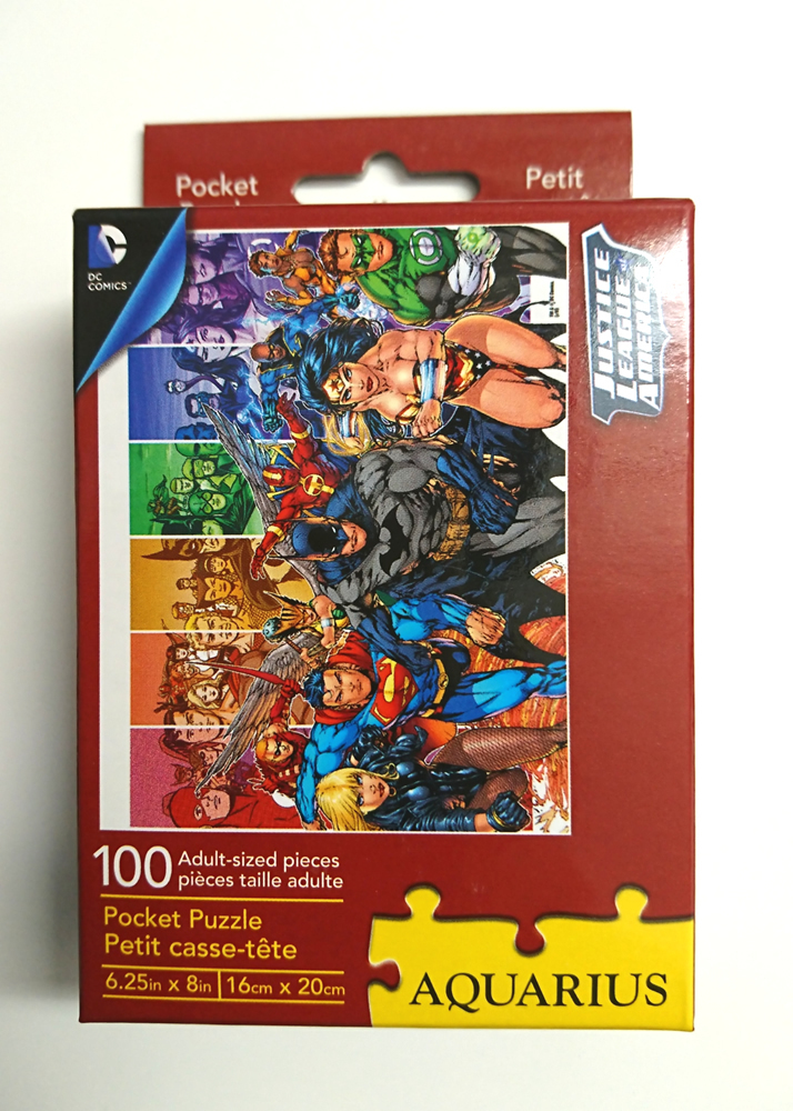 DC Comics (DCコミック) justice league (ジャスティスリーグ) Pocket Puzzle 100Piece ジグソーパズル_画像1