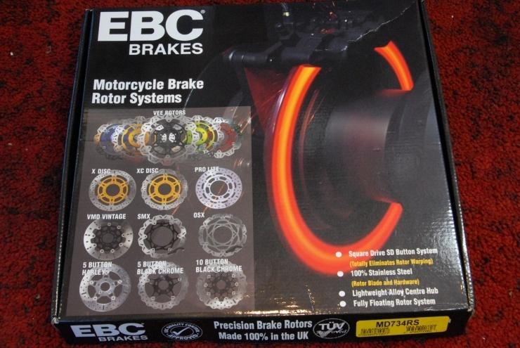 Buell ビューエル S1 S1W X1 X1W M2 S3 EBC 新品 フロント ブレーキ ディスク ローター 新品 ボルト 付き 売り切り!!_画像2