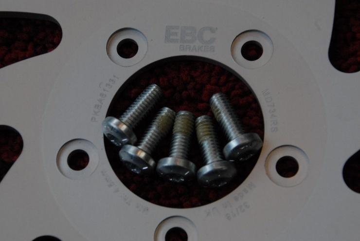 Buell ビューエル S1 S1W X1 X1W M2 S3 EBC 新品 フロント ブレーキ ディスク ローター 新品 ボルト 付き 売り切り!!_画像3