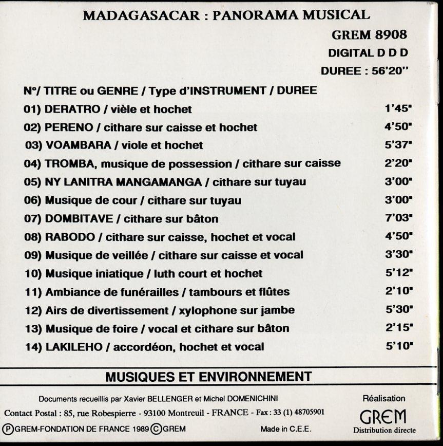 CD☆V.A. / Madagascar - Panorama Musical / G 8908_画像4