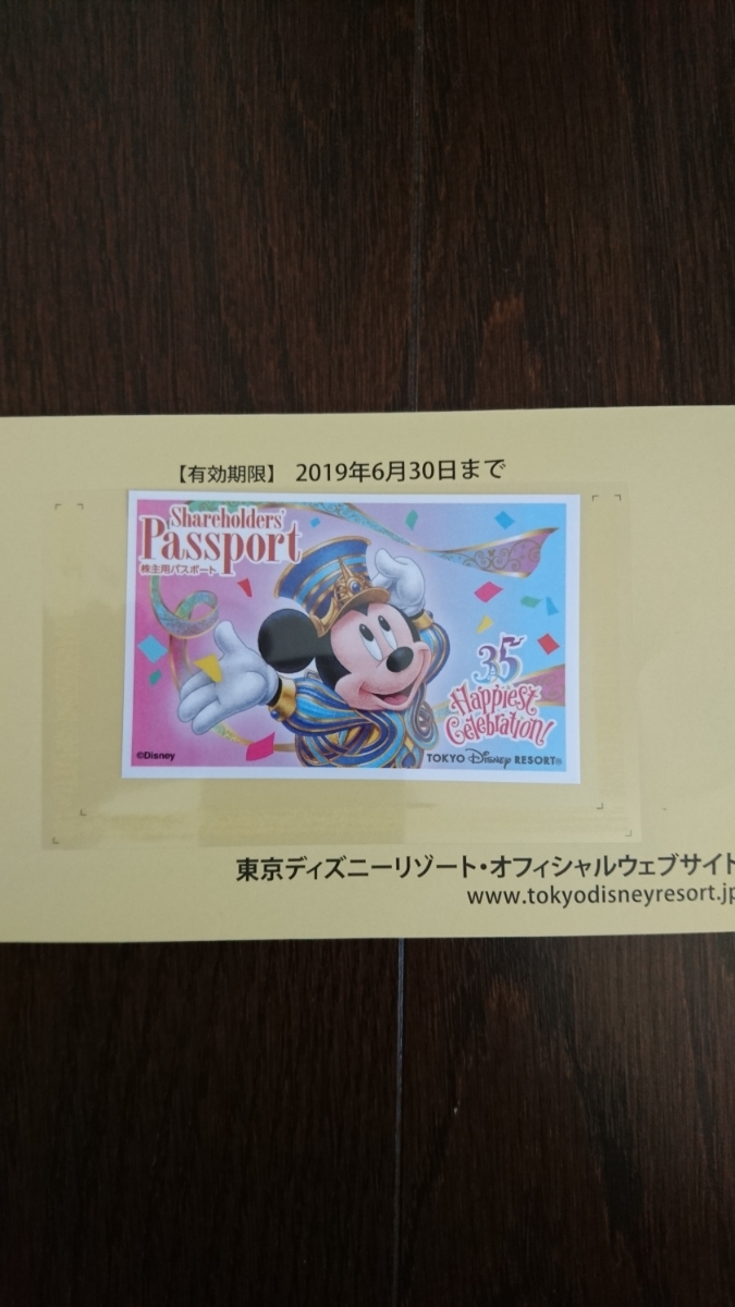 TDR 東京ディズニーリゾート株主優待パスポート 1枚 定形外郵便送料無料