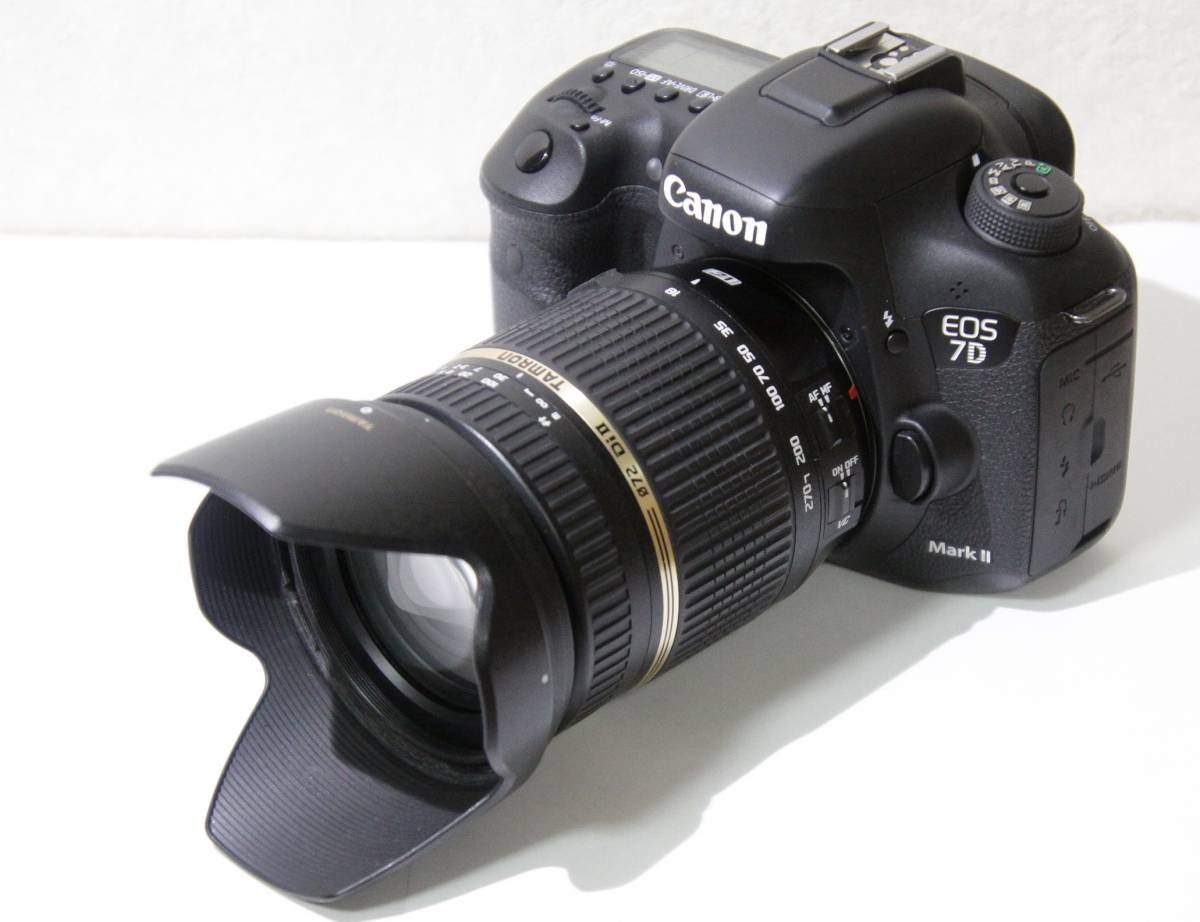 【美品】レンズセット CANON EOS 7D Mark2 & TAMRON 高倍率ズームレンズ 18-270mm F3.5-6.3 [送料無料]