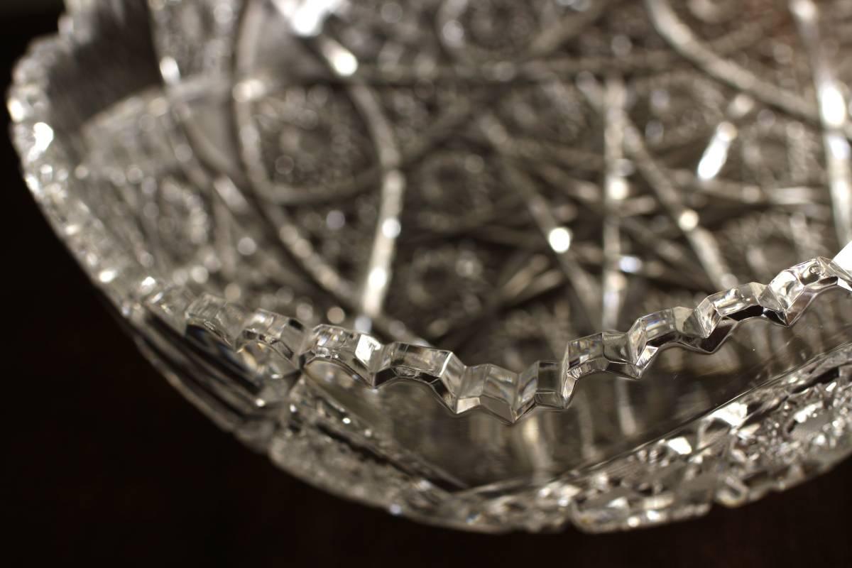 19世紀 フランス ガラス ギヤマン 鉢 ◇ 義山 懐石 水指 江戸 薩摩 切子 バカラ カット クリスタル ボウル アンティーク 古道具 時代物 _画像6