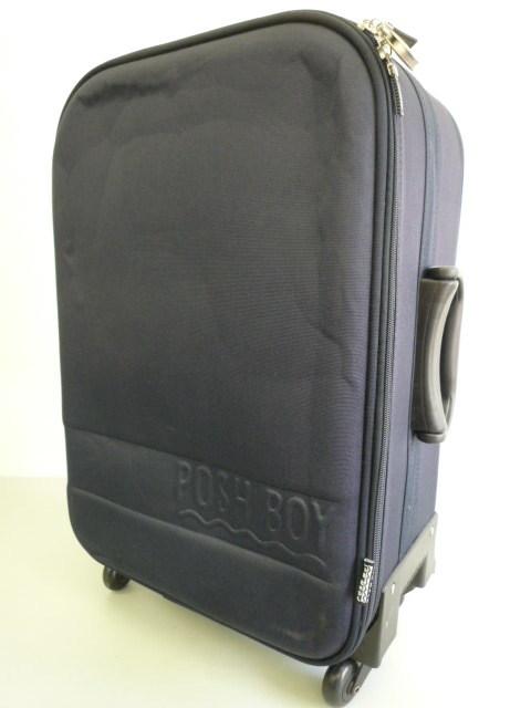 【良品】★POSH BOY/ポッシュボーイ★スーツケース キャリーケース キャリーバッグ 旅行カバン ネイビー
