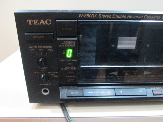 TEAC ティアック w-880rx ダブルリバース カセットデッキ W-880RX ジャンク_画像9