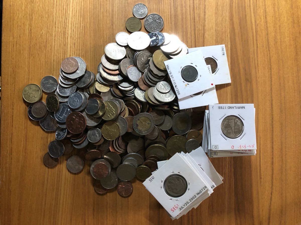 外国コイン まとめて放出1.5キロ以上