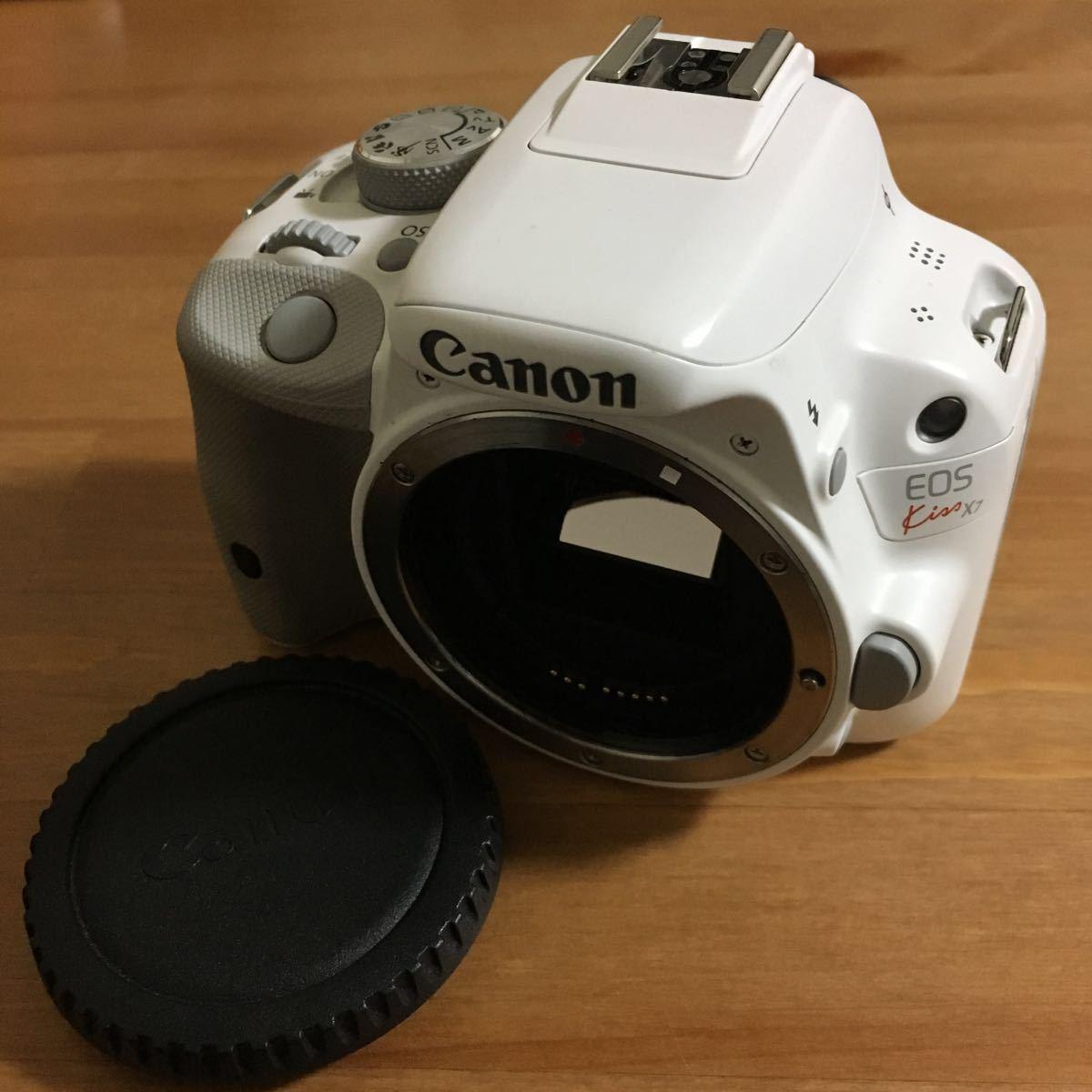 Canon EOS Kiss X7 ホワイト? ボディ ノーチェックで動作不明のジャンク扱いです。