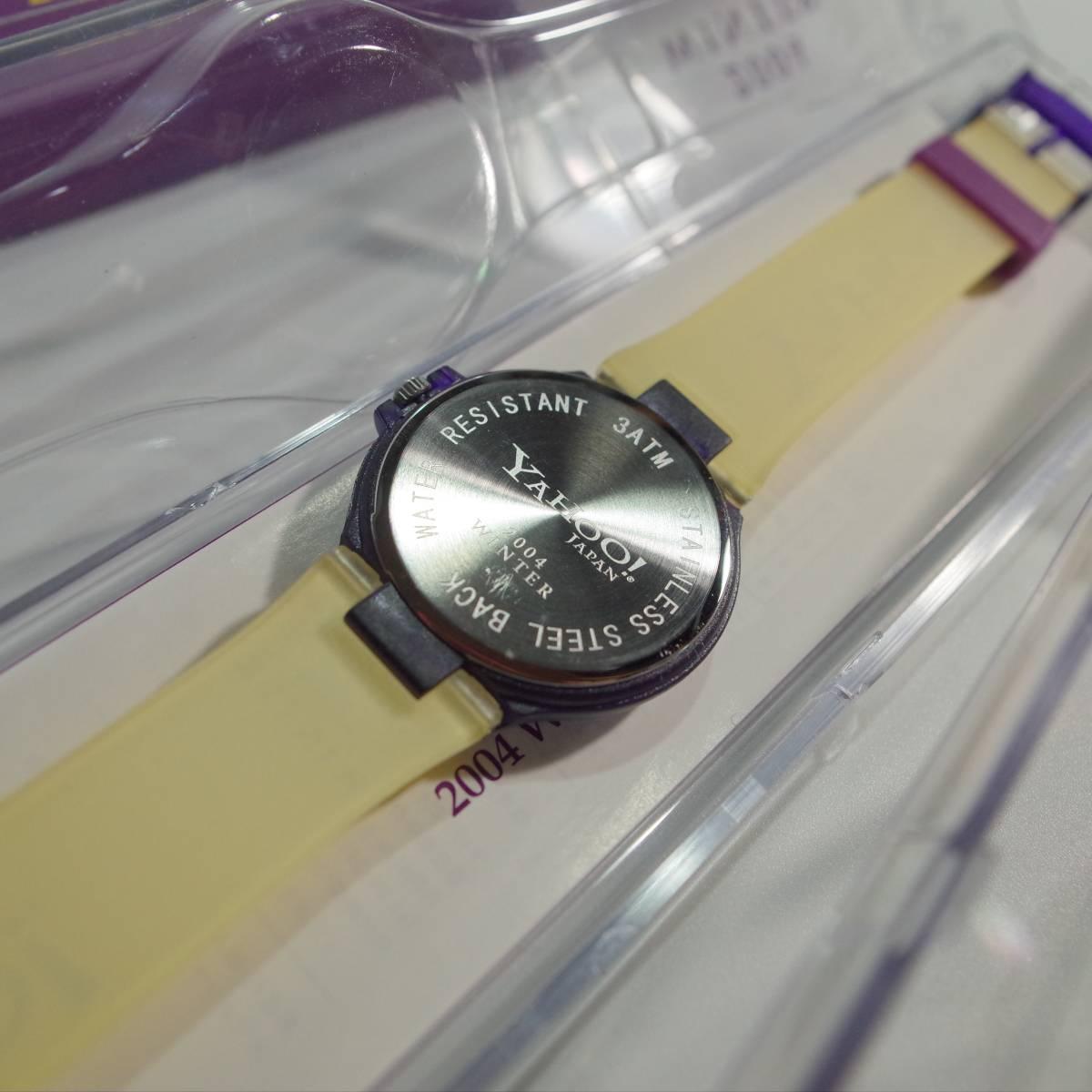 swatch 非売品 スウォッチ SWATCH×Yahoo!JAPAN コラボ時計 ヤフージャパン デッドストック 未使用 2点セット_画像10