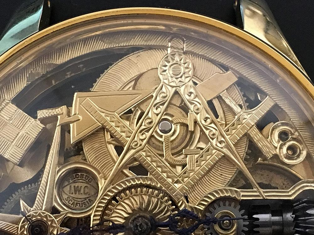 下取&値引き交渉あり 1889年 IWC 懐中時計のムーブメント使用 カスタム時計 フリーメイソンフルエングレービングフルスケルトン_画像9