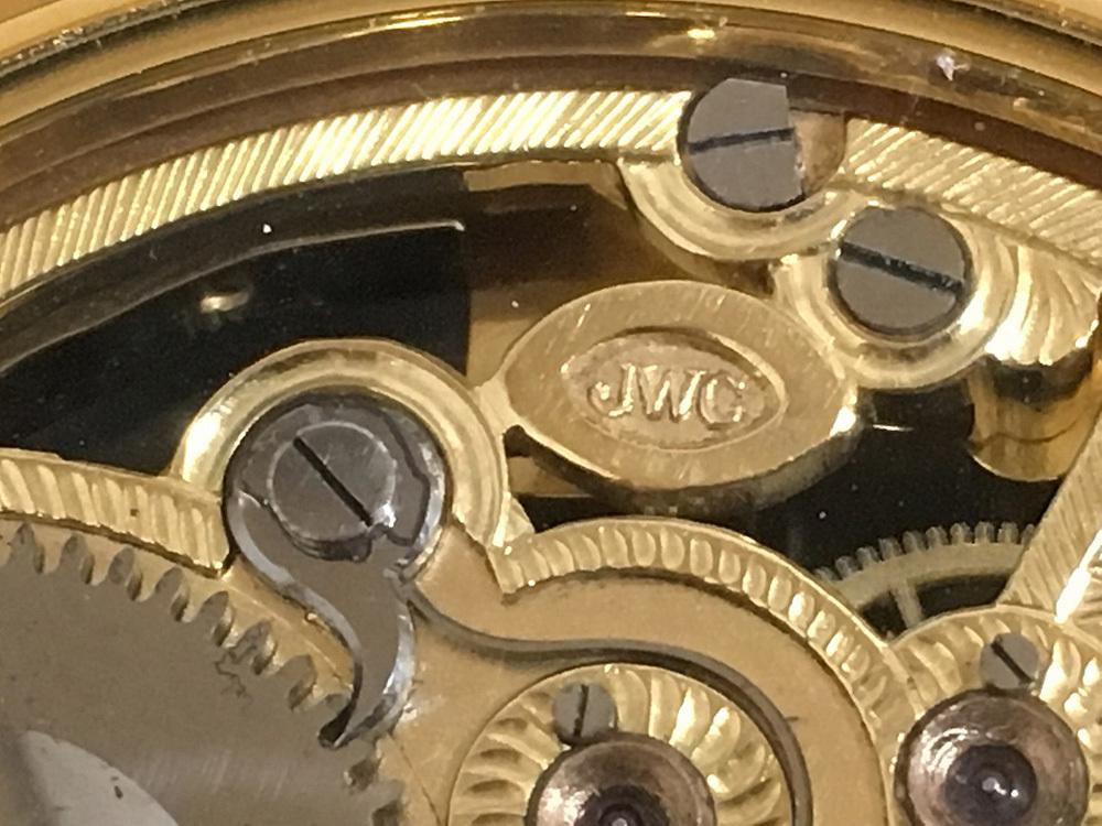 下取&値引き交渉あり 1889年 IWC 懐中時計のムーブメント使用 カスタム時計 フリーメイソンフルエングレービングフルスケルトン_画像5