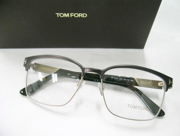 TOM FORD 正規品 眼鏡フレーム FT5323-048 マットダークブラウン / ハバナ 新品 こげ茶 フルリム トムフォード_画像1
