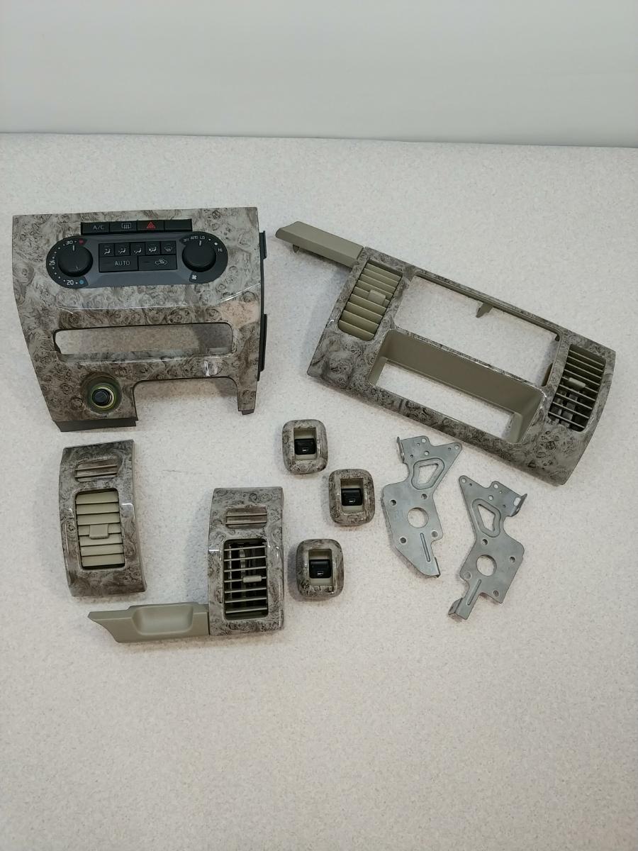 L350S タント ★大理石調★ エアコンスイッチパネル/オーディオパネル(ステー付き)/エアコン吹き出し口/パワーウインドウスイッチ