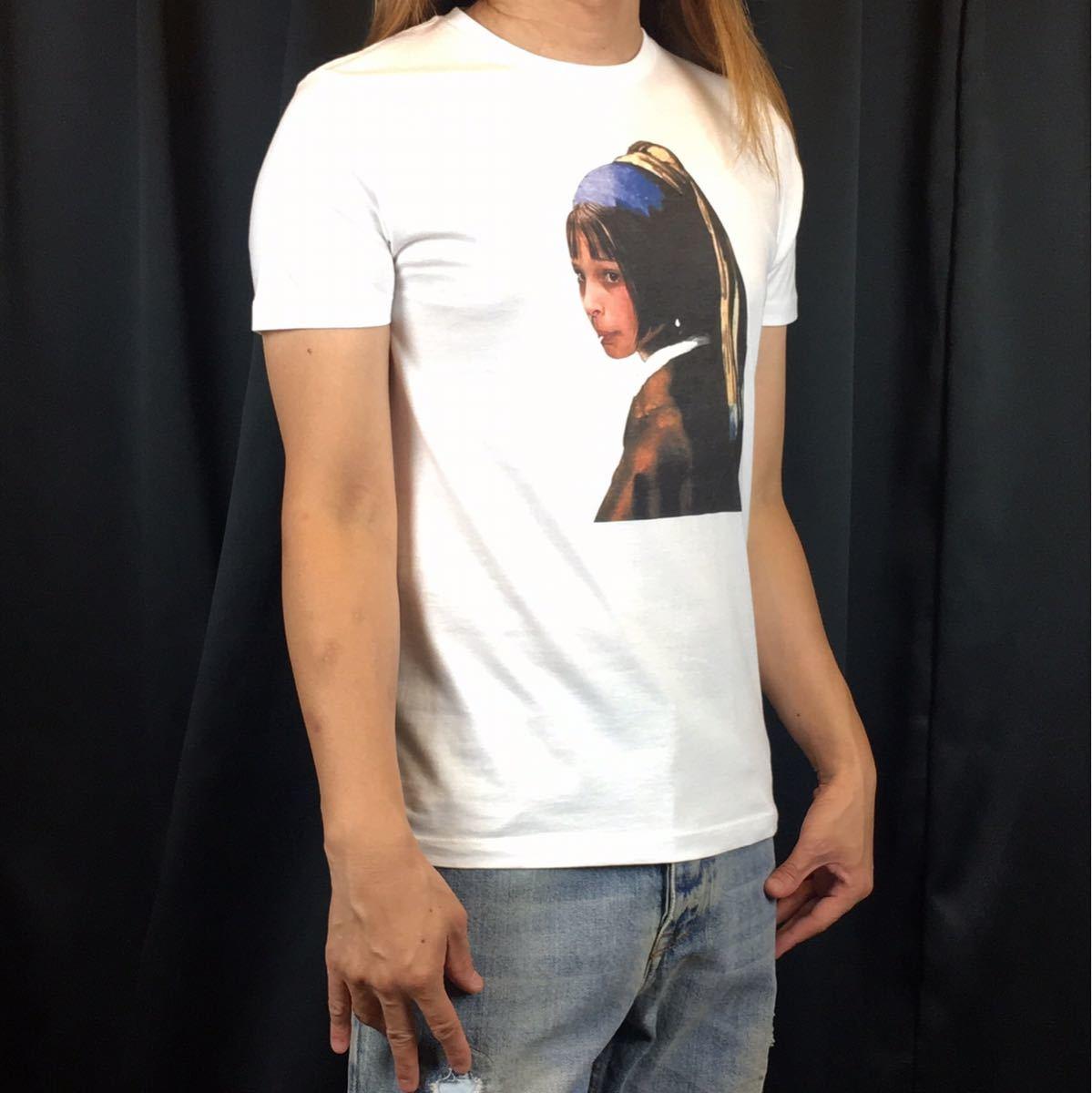 新品 映画 LEON レオン マチルダ フェルメール 真珠の耳飾りの少女 Tシャツ コラージュ デザイン S M L XL ビッグ サイズ XXL~5XL 長袖 OK_画像2