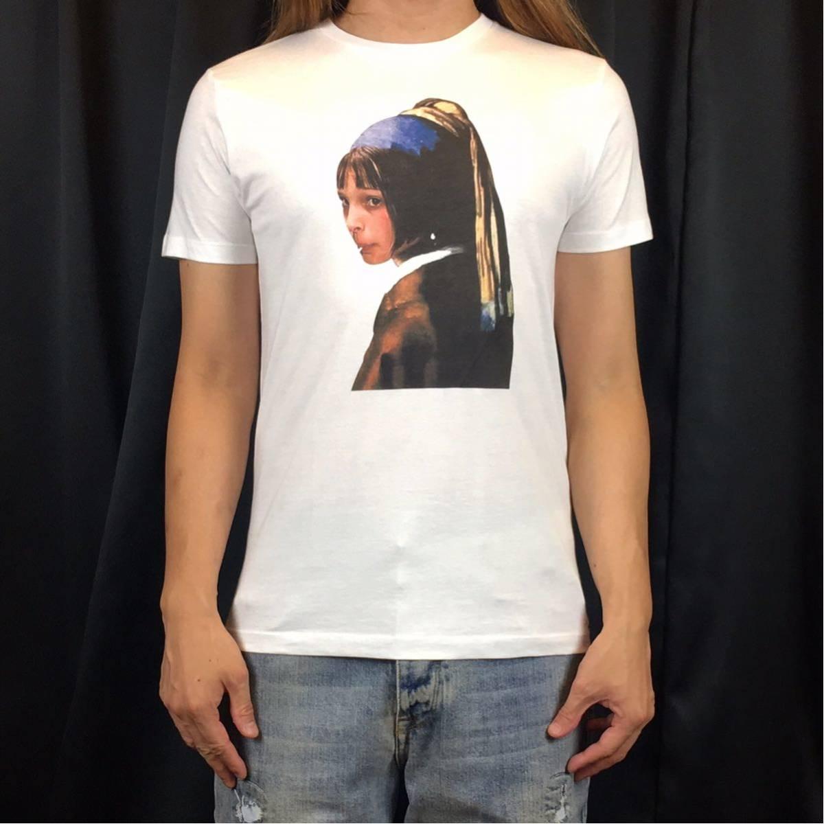 新品 映画 LEON レオン マチルダ フェルメール 真珠の耳飾りの少女 Tシャツ コラージュ デザイン S M L XL ビッグ サイズ XXL~5XL 長袖 OK_画像1