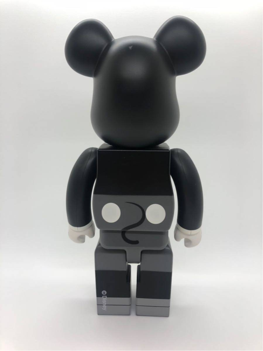 入手困難 美品 ベアブリック BE@RBRICK 400% ミッキーマウス 白黒版 モノクロ/KAWS BAPE_画像2