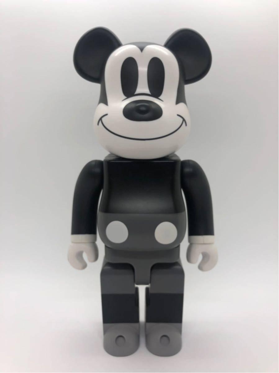 入手困難 美品 ベアブリック BE@RBRICK 400% ミッキーマウス 白黒版 モノクロ/KAWS BAPE_画像1
