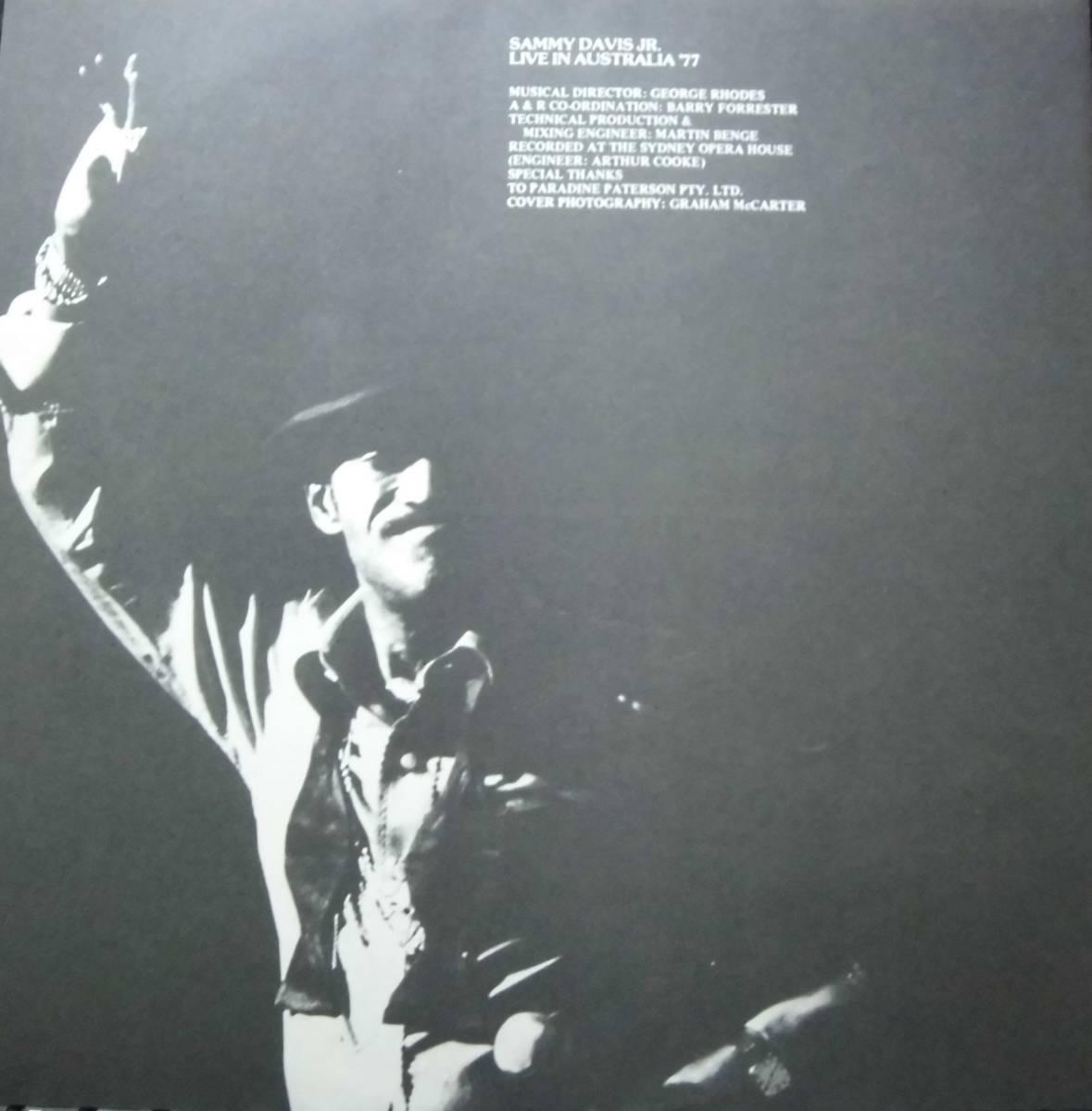 即決初回日本美盤LP/ Sammy Davis Jr. / In Person Australia '77 Live / サミー・デイヴィス・Jr _画像4