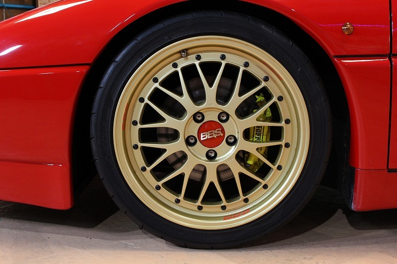 平成最後のヤフオク入札会★価格交渉歓迎、正規D車フェラーリ348ts内装レッドレザークライスマフラー BBSアルミ エアコンOK_BBSアルミ