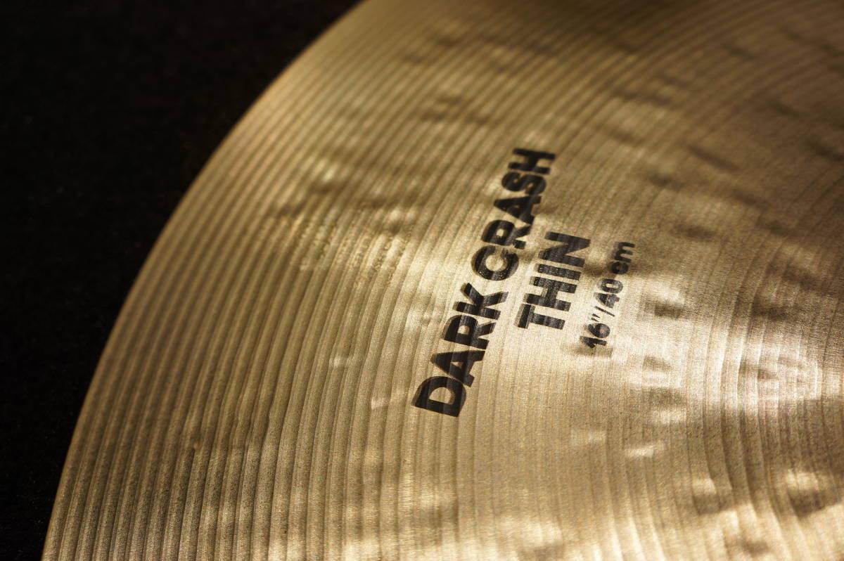 【IAK】K Zildjian Dark Crash Thin 16インチ ダーククラッシュシン①_画像3