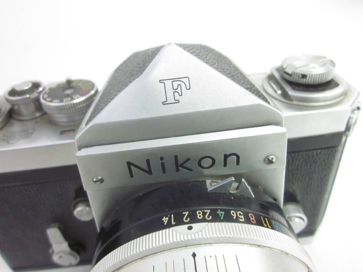 08 78-81817-10 Nikon ニコン F アイレベル 一眼レフ カメラ 1:1.4 f=5.8cm 埼78_画像2