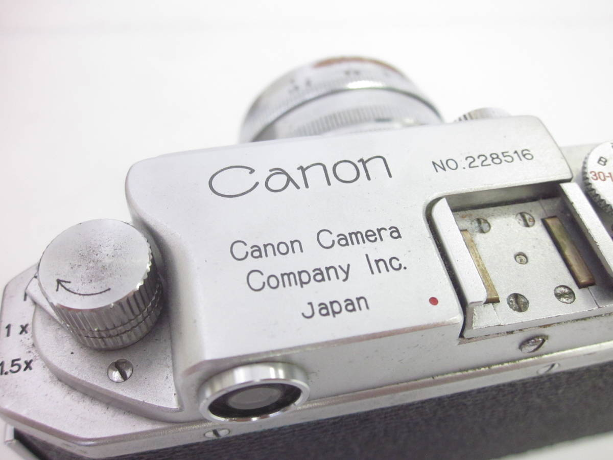 08 78-88964-24 Canon キャノン 4sb フィルムカメラ 50mm f:1.8 付属品あり 埼78_画像2