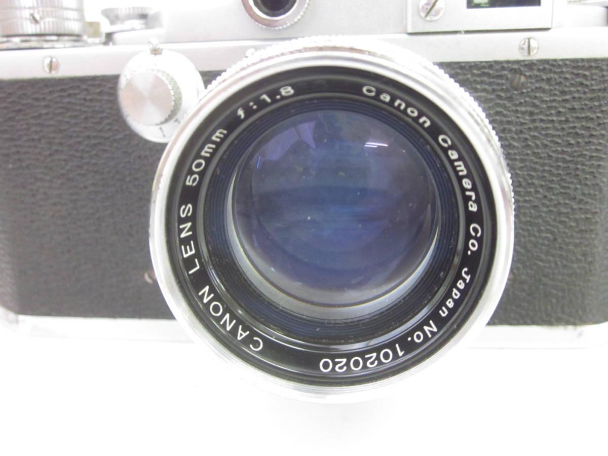 08 78-88964-24 Canon キャノン 4sb フィルムカメラ 50mm f:1.8 付属品あり 埼78_画像3