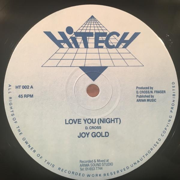 ★Joy Gold/Love You (Night)★LOVERS ROCK!レア!_画像1
