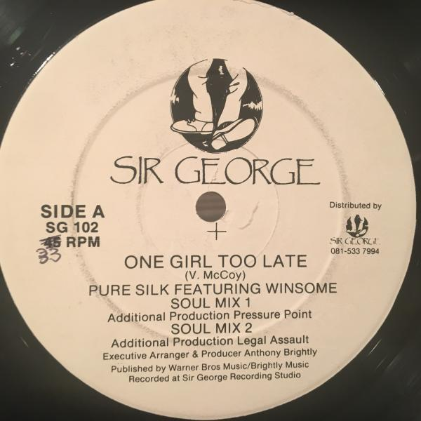 ★Pure Silk Featuring Winsome/One Girl Too Late★アーバンLOVERS & R&B!_画像2